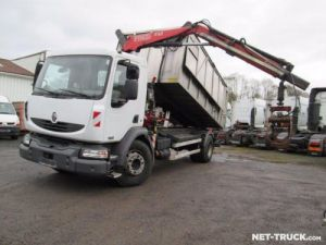 Camion porteur Renault Midlum Benne + grue Occasion