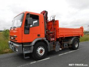 Trucks Iveco EuroTech 2/3 way tipper body + crane Occasion