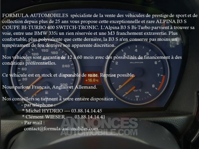 Alpina B3 BI-TURBO 400CH SWITCH-TRONIC GRIS Occasion - 1