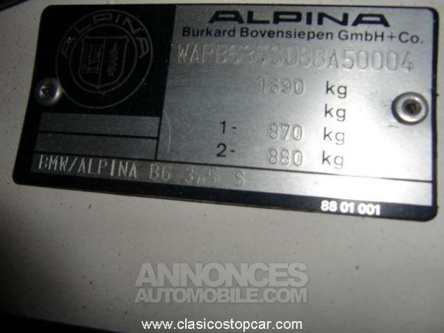 Alpina B6 M3 3.5 S Blanc Verni Occasion - 10
