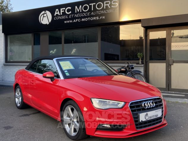 Audi A3 Cabriolet 2.0 TDI 150 Ambition S-tronic 6 ROUGE Occasion - 1