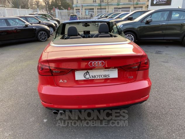 Audi A3 Cabriolet 2.0 TDI 150 Ambition S-tronic 6 ROUGE Occasion - 7