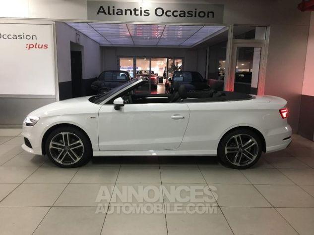 Audi A3 Cabriolet 35 TFSI 150ch Design luxe S tronic 7 Euro6d-T blanc ibis capote noire Occasion - 1