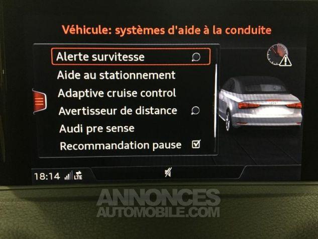 Audi A3 Cabriolet 35 TFSI 150ch Design luxe S tronic 7 Euro6d-T blanc ibis capote noire Occasion - 17