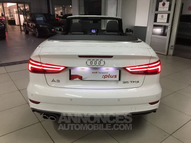 Audi A3 Cabriolet 35 TFSI 150ch Design luxe S tronic 7 Euro6d-T blanc ibis capote noire Occasion - 18