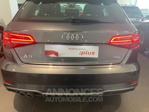 Audi A3 Sportback 2.0 TDI 150ch S line S tronic 6 Gris Daytona Arche Noir Occasion - 9