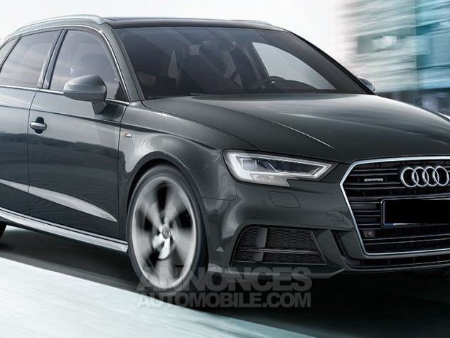 Audi A3 Sportback S line Noir brillant Neuf - 0