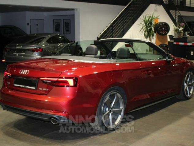 Audi A5 2.0 TFSI 190 CH S TRONIC CABRIOLET 2X S LINE Rouge Occasion - 5