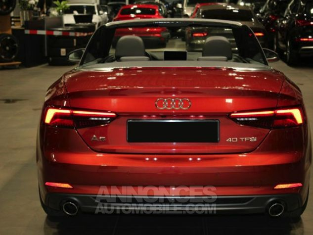 Audi A5 2.0 TFSI 190 CH S TRONIC CABRIOLET 2X S LINE Rouge Occasion - 6
