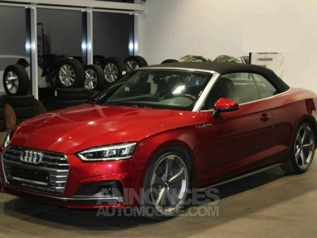 Audi A5 2.0 TFSI 190 CH S TRONIC CABRIOLET 2X S LINE Rouge Occasion - 1
