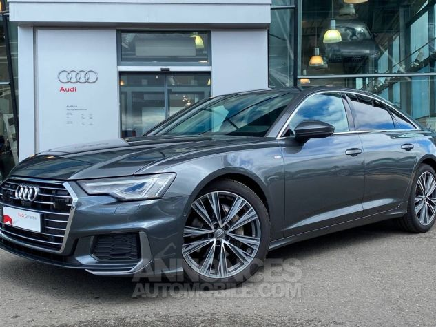 Audi A6 45 V6 3.0 TDI 231 ch Quattro Tiptronic 8 S line Gris Occasion - 0