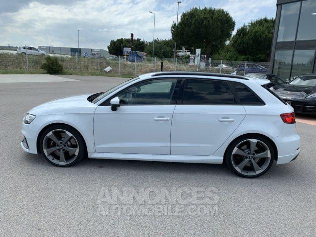 Audi RS3 II (2) SPORTBACK 2.5 TFSI 400 CH QUATTRO S TRONIC BLANC GLACIER MÉTAL Occasion - 3