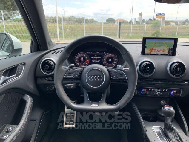 Audi RS3 II (2) SPORTBACK 2.5 TFSI 400 CH QUATTRO S TRONIC BLANC GLACIER MÉTAL Occasion - 12