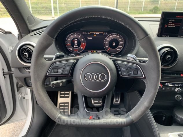 Audi RS3 II (2) SPORTBACK 2.5 TFSI 400 CH QUATTRO S TRONIC BLANC GLACIER MÉTAL Occasion - 13