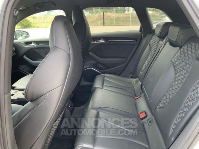 Audi RS3 II (2) SPORTBACK 2.5 TFSI 400 CH QUATTRO S TRONIC BLANC GLACIER MÉTAL Occasion - 19