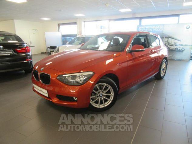 BMW Série 1 114d 95ch Lounge 3p Orange Métal Occasion - 0