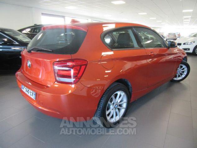 BMW Série 1 114d 95ch Lounge 3p Orange Métal Occasion - 2