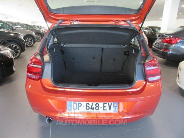 BMW Série 1 114d 95ch Lounge 3p Orange Métal Occasion - 4