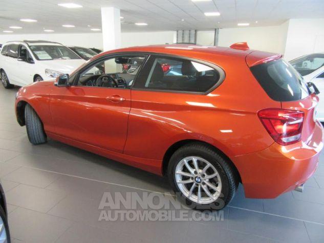BMW Série 1 114d 95ch Lounge 3p Orange Métal Occasion - 5
