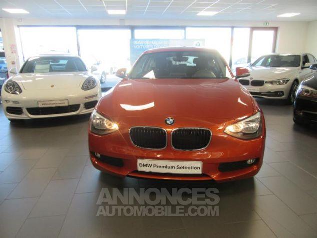 BMW Série 1 114d 95ch Lounge 3p Orange Métal Occasion - 7