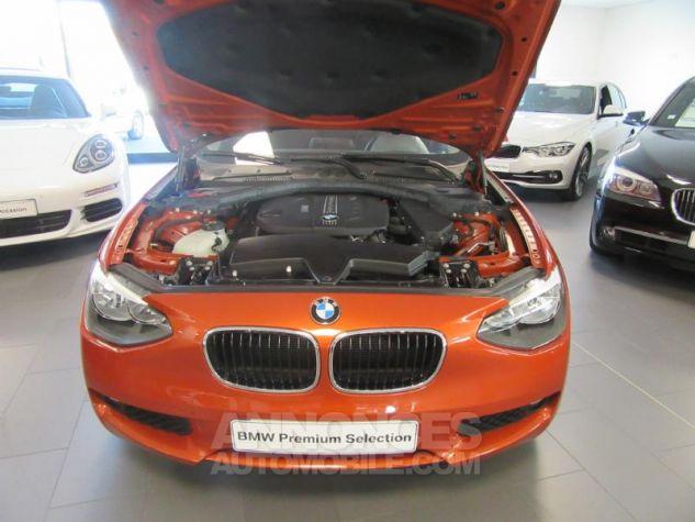 BMW Série 1 114d 95ch Lounge 3p Orange Métal Occasion - 8
