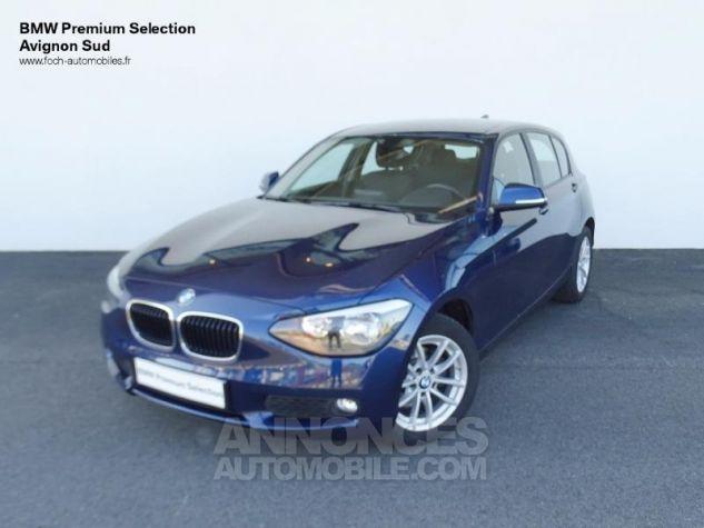 BMW Série 1 114d 95ch Lounge 5p Tiefseeblau metalisee Occasion - 0