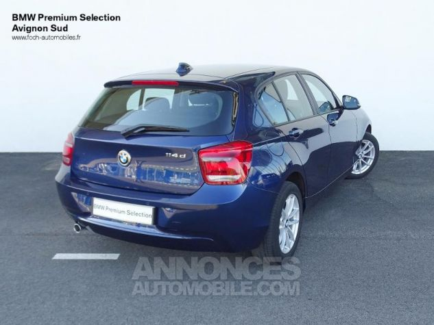 BMW Série 1 114d 95ch Lounge 5p Tiefseeblau metalisee Occasion - 1