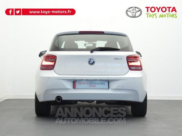 BMW Série 1 116i 136ch Lounge 5p BLANC Occasion - 11