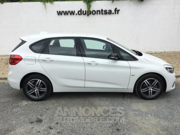 BMW Série 2 216dA 116ch Sport BLANC Occasion - 8