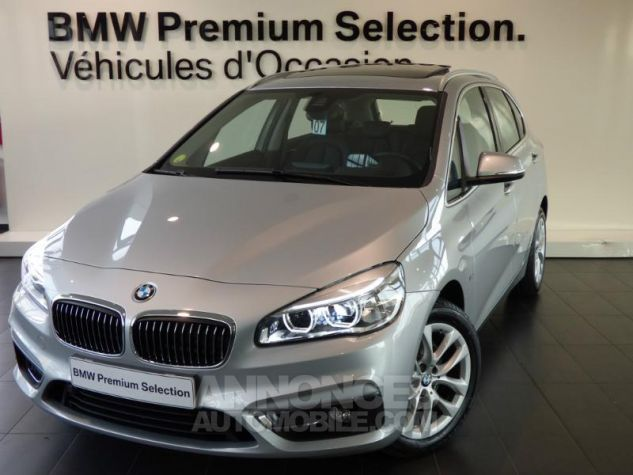 BMW Série 2 218dA 150ch Luxury Glaciersilber metallisee Occasion - 0