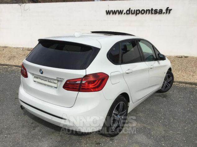 BMW Série 2 218iA 136ch Sport BLANC Occasion - 1
