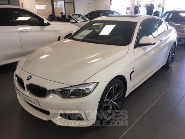 BMW Série 4 420d xDrive 190ch M Sport Alpinweiss uni Occasion - 0