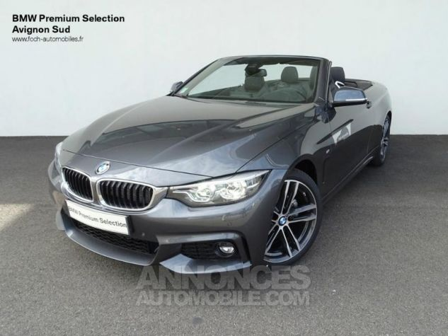 BMW Série 4 Cabriolet 430dA 258ch M Sport Mineralgrau  metallise Occasion - 0