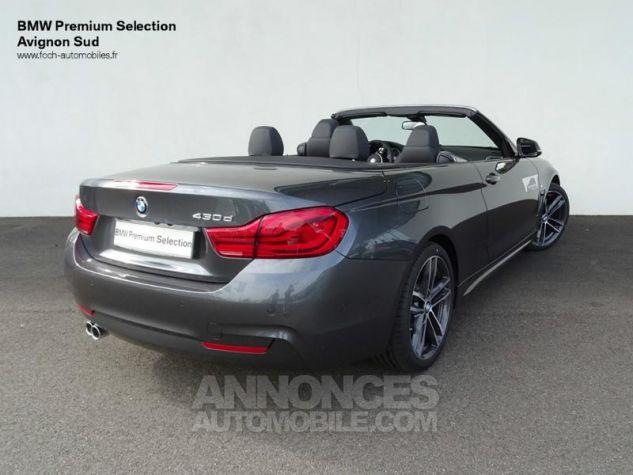 BMW Série 4 Cabriolet 430dA 258ch M Sport Mineralgrau  metallise Occasion - 1