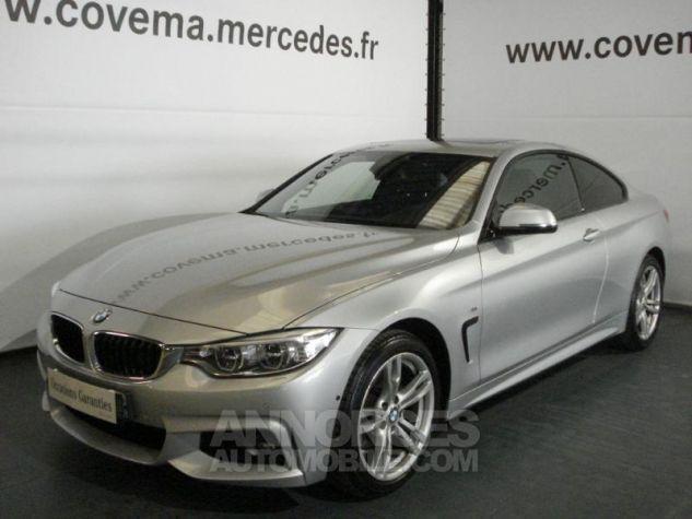 BMW Série 4 Coupe 420dA xDrive 184ch M Sport Gris Clair Métal Occasion - 0