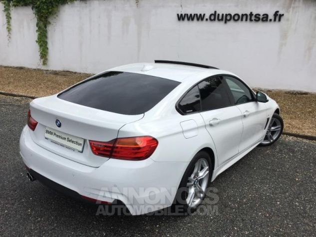 BMW Série 4 Gran Coupe 430dA 258ch M Sport BLANC Occasion - 1