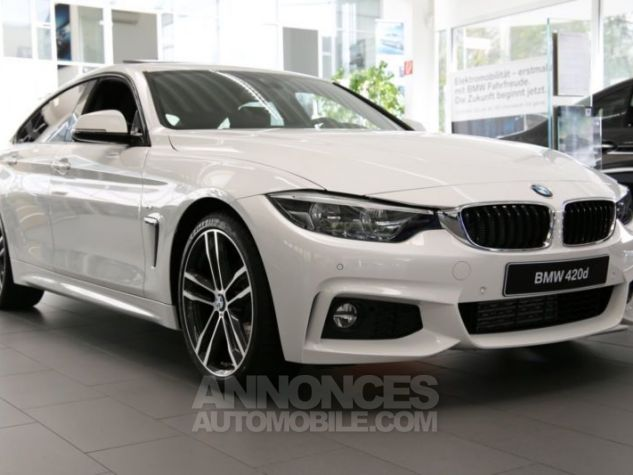 BMW Série 4 Gran Coupe F36 420DA 190CH M SPORT BLANC Occasion - 0