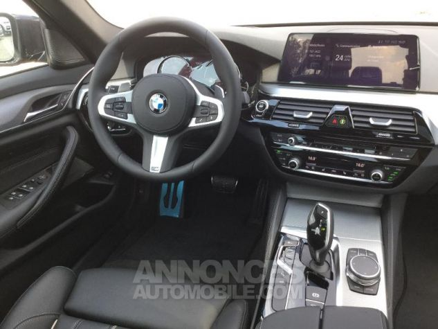 BMW Série 5 520dA 190ch M Sport Steptronic Carbonschwarz 3 Métal Occasion - 4