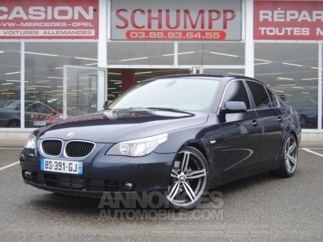 BMW Série 5 DA PACK LUXE 87822KM TOUTES OPTIONS Bleu Foncé Occasion - 0