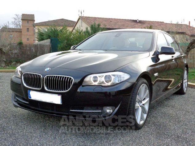 BMW Série 5 F10 530D 258 LUXURY noir verni Occasion - 1
