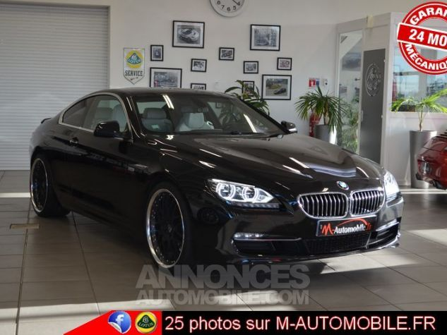 BMW Série 6 F13 640DA 313CH EXCLUSIVE NOIR Occasion - 0