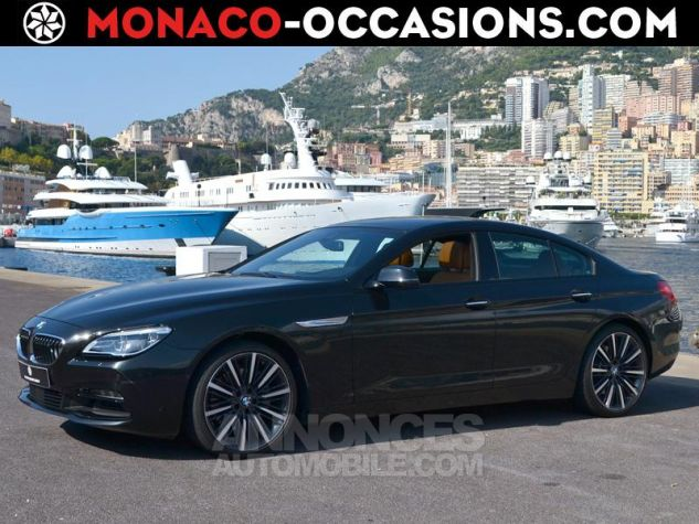 BMW Série 6 Gran Coupe 640dA xDrive 313ch Exclusive Saphirschwarz Metallise Occasion - 0