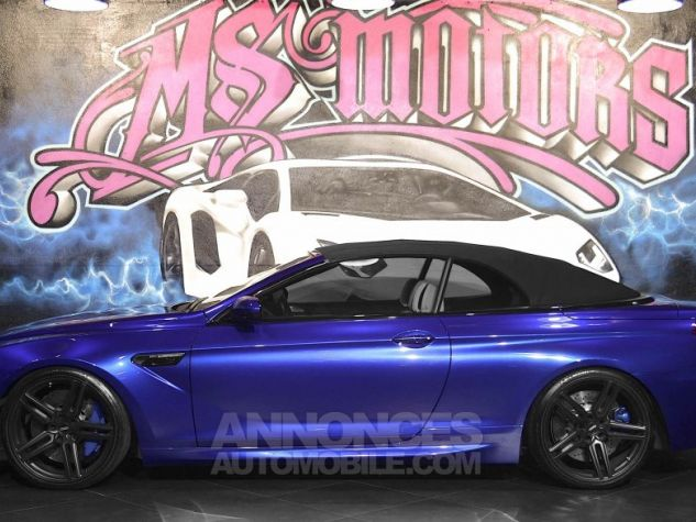 BMW Série 6 M6 (F12) CABRIOLET 560 DKG7 BLEU METAL  Occasion - 4