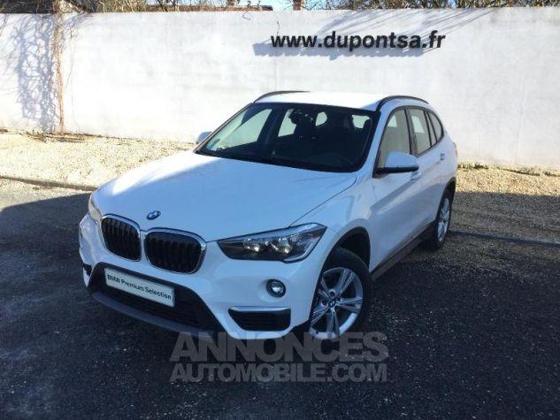 BMW X1 sDrive16d 116ch Lounge BLANC Occasion - 0