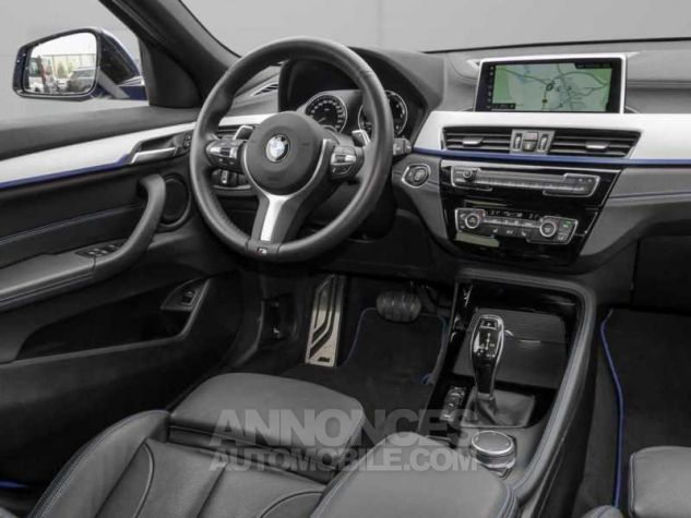 BMW X2 XDRIVE 20D PACK M SPORT BVA  BLEU Occasion - 4