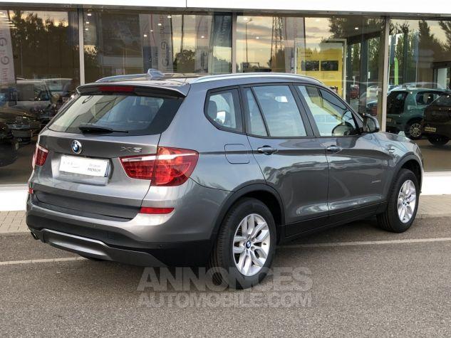 BMW X3 xDrive20dA 190ch Lounge Plus Gris Foncé Occasion - 2