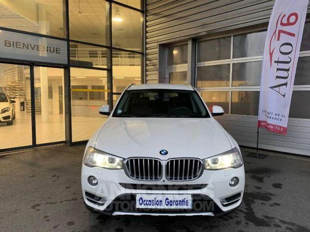 BMW X3 xDrive20dA 190ch xLine Alpinweiss Occasion - 1