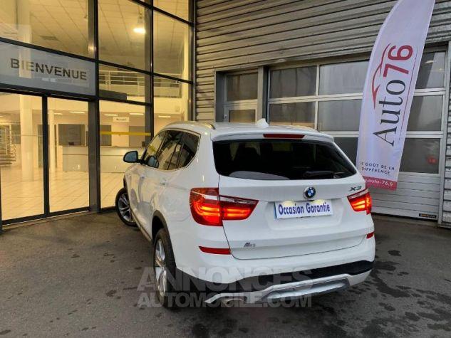 BMW X3 xDrive20dA 190ch xLine Alpinweiss Occasion - 3