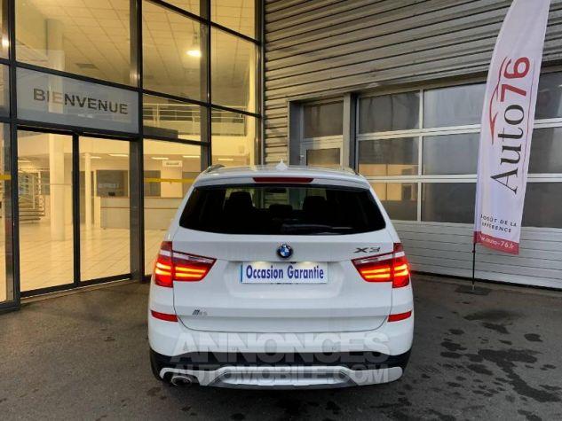 BMW X3 xDrive20dA 190ch xLine Alpinweiss Occasion - 4