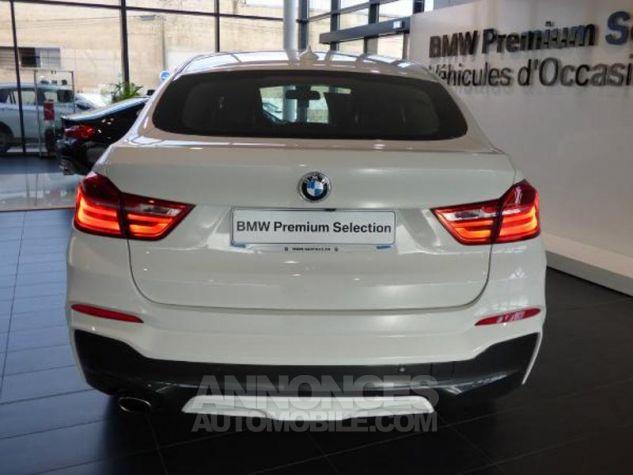 BMW X4 xDrive20dA 190ch M Sport Alpinweiss uni Occasion - 18